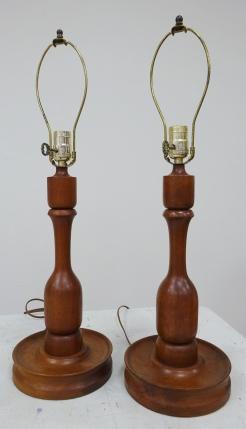 EAClore Walnut Lamps